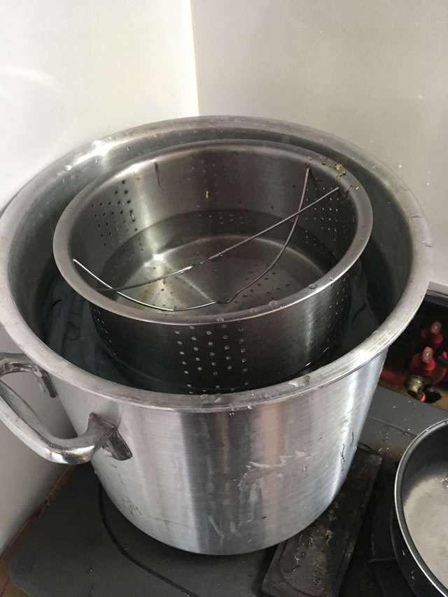 シーツ煮沸消毒