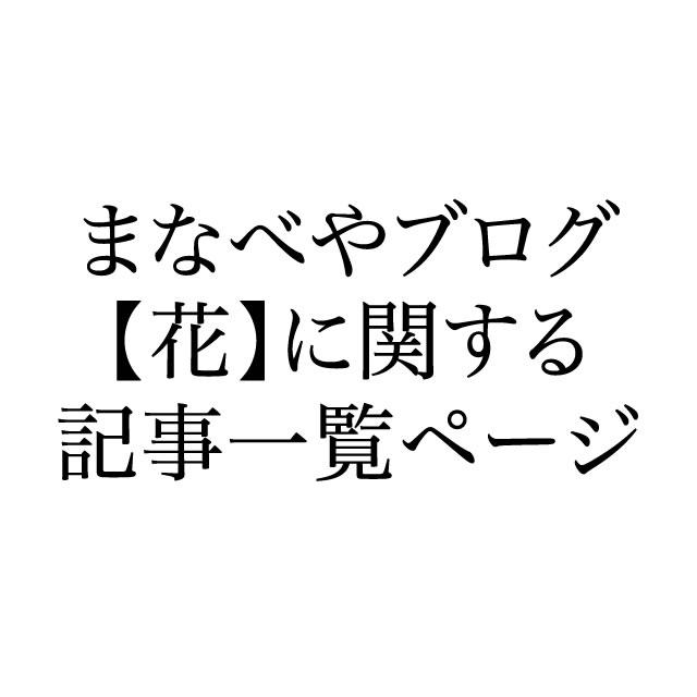 【花】に関する記事一覧ページ