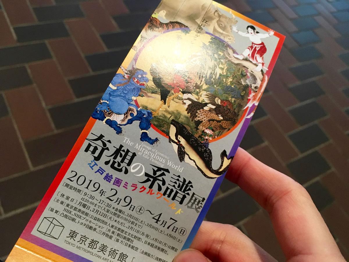 奇想の系譜展のチケット