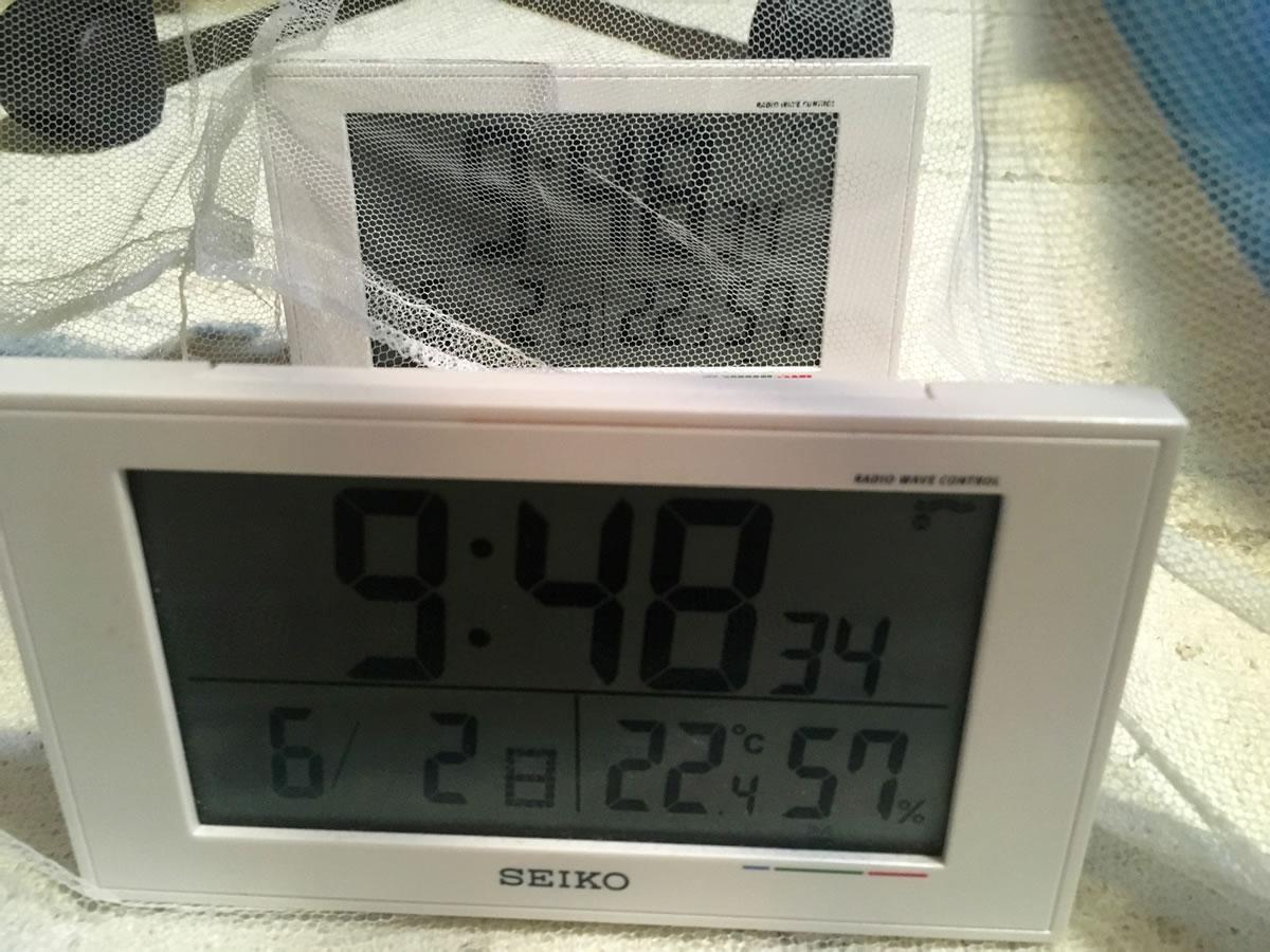 蚊帳の温度