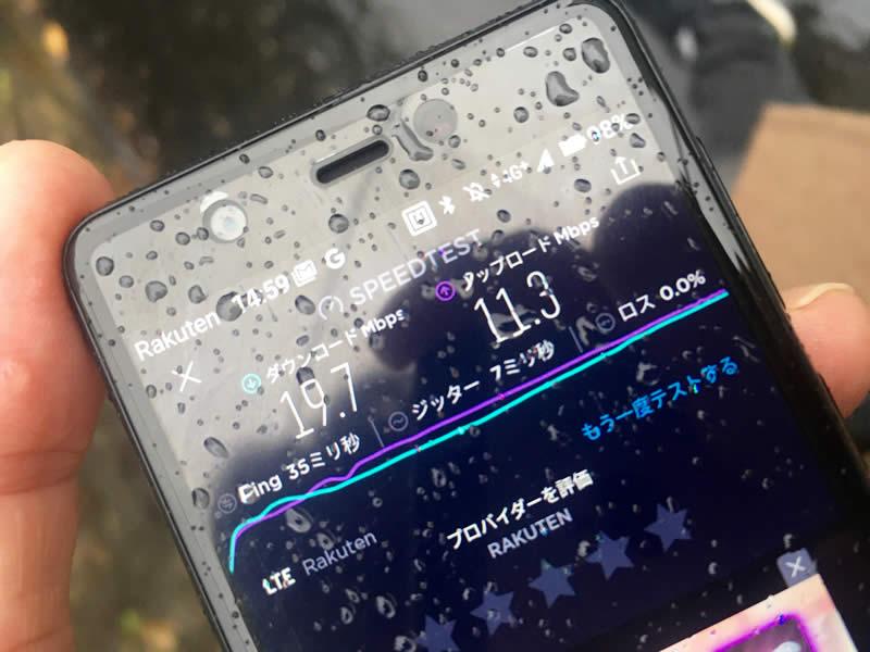 楽天モバイルUN-LIMIT速度
