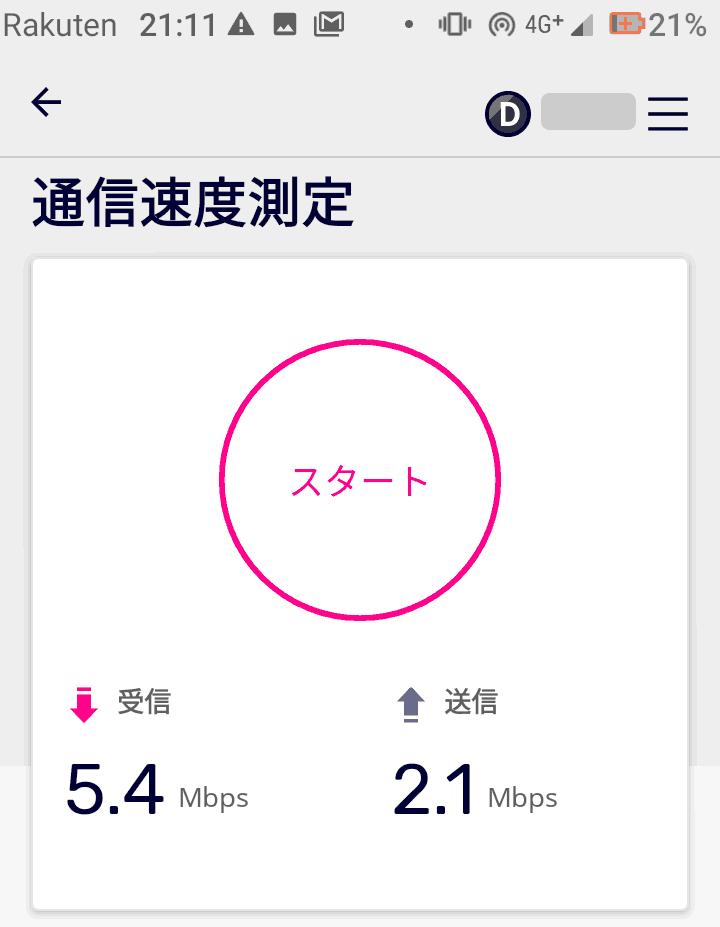 Rakuten Casa速度